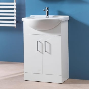 Alpha 525mm & 620mm Base Unit & Basin (can be used with WC Units)