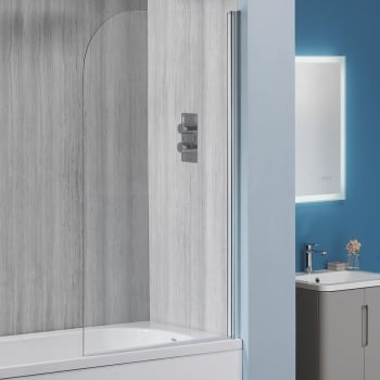 Alpha 6mm Round Bath Screen - 1360 x 800mm