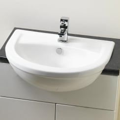 Carolina 520 x 420mm Semi-Recessed Basin