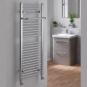 Alpha Ebony Towel Rail with Projecting Towel Bar