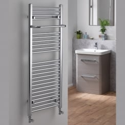 Ebony Towel Rail with Projecting Towel Bar