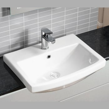 Alpha Nevada 550 x 420mm Semi-Recessed Basin