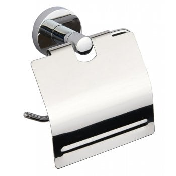 Alpha Toilet Roll Holder with Lid