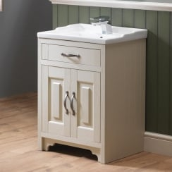 Grosvenor 600mm 2-door Base Unit & Nostalgic Basin - 450mm Depth