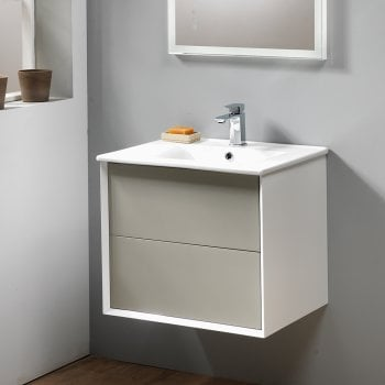 Ascent Furniture Milan 60 Wall-Hung Base Unit & Basin - Gloss Finishes