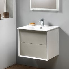 Milan 60 Wall-Hung Base Unit & Basin - Gloss Finishes
