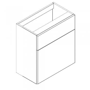 Ascent Furniture Ritz 500mm & 600mm WC Base Unit - 335mm Depth