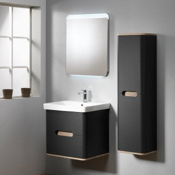 Ascent Furniture Roma 60 Wall-Hung Base Unit & Basin with Optional Column