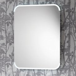 Aston Mirror with Integrated Side Lights, Anti-Mist Pad & Sensor Switch - 2 Size Options