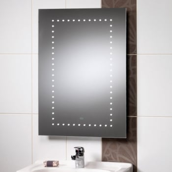 Ascent mirrors atlanta 500 x 700mm mirror with led lights for Bathroom cabinets 700 x 500