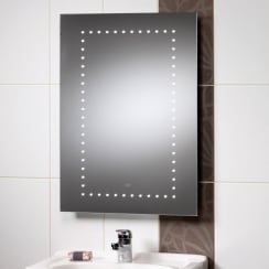 Atlanta Mirror with LED Lights & Rear Anti-Mist Pad - 500 x 700mm