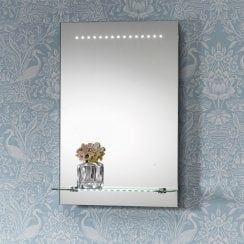 Bologna Mirror with LED Lights & Lit Shelf - 395 x 600mm