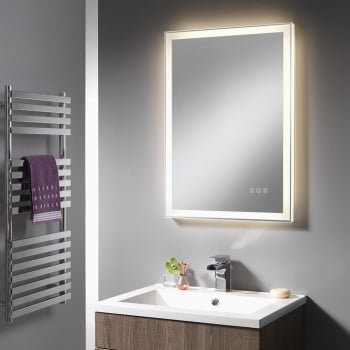Ascent Mirrors Charlotte Mirror with Integrated LED Light Strip - 500 x 700mm & 600 x 800mm