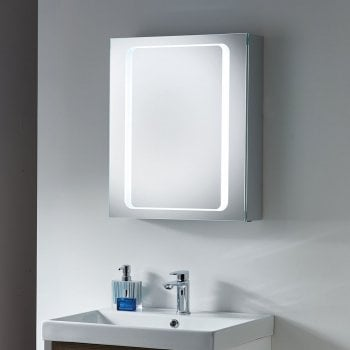 Ascent Mirrors Cirrus 500 x 600 x 140mm Mirrored Cabinet