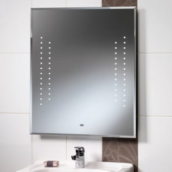 Ascent Mirrors Duchess Mirror with LED Lights & Rear Anti-Mist Pad - 600 x 700mm