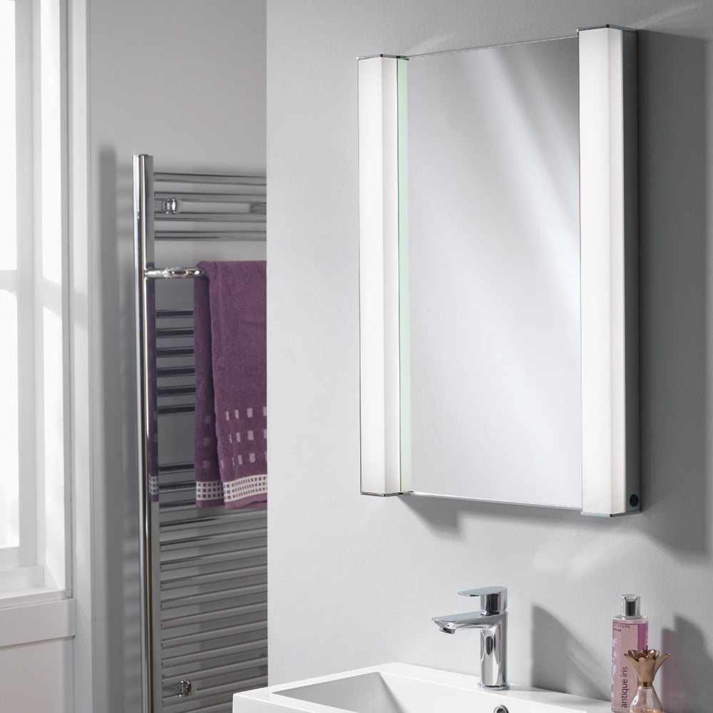 Ascent mirrors incus 500 x 700 x 156mm recessed mirrored for Bathroom cabinets 700 x 500