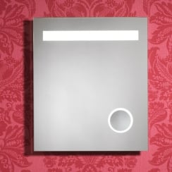 Prince Mirror with LED Lights, Cosmetic Mirror, Anti-Mist Pad & Sensor Switch - 600 x 700mm
