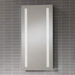 Virginia Mirror with LED Light Strips, Anti-Mist Pad & Sensor Switch - 500 x 800mm