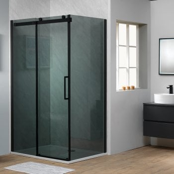 Ascent Premier 8mm Roller Sliding Door - Smoked Glass