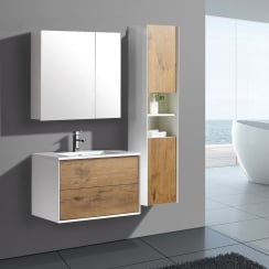 Milan 60 & 80 Wall-Hung Base Unit & Basin