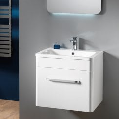 Venice Wall-Hung Base Unit & Basin - Gloss White