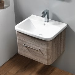 Venice Wall-Hung Base Unit & Basin - Wood Finishes