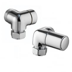 Corner Radiator Valves (pair)