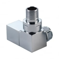 Cubic Corner Radiator Valves (pair)