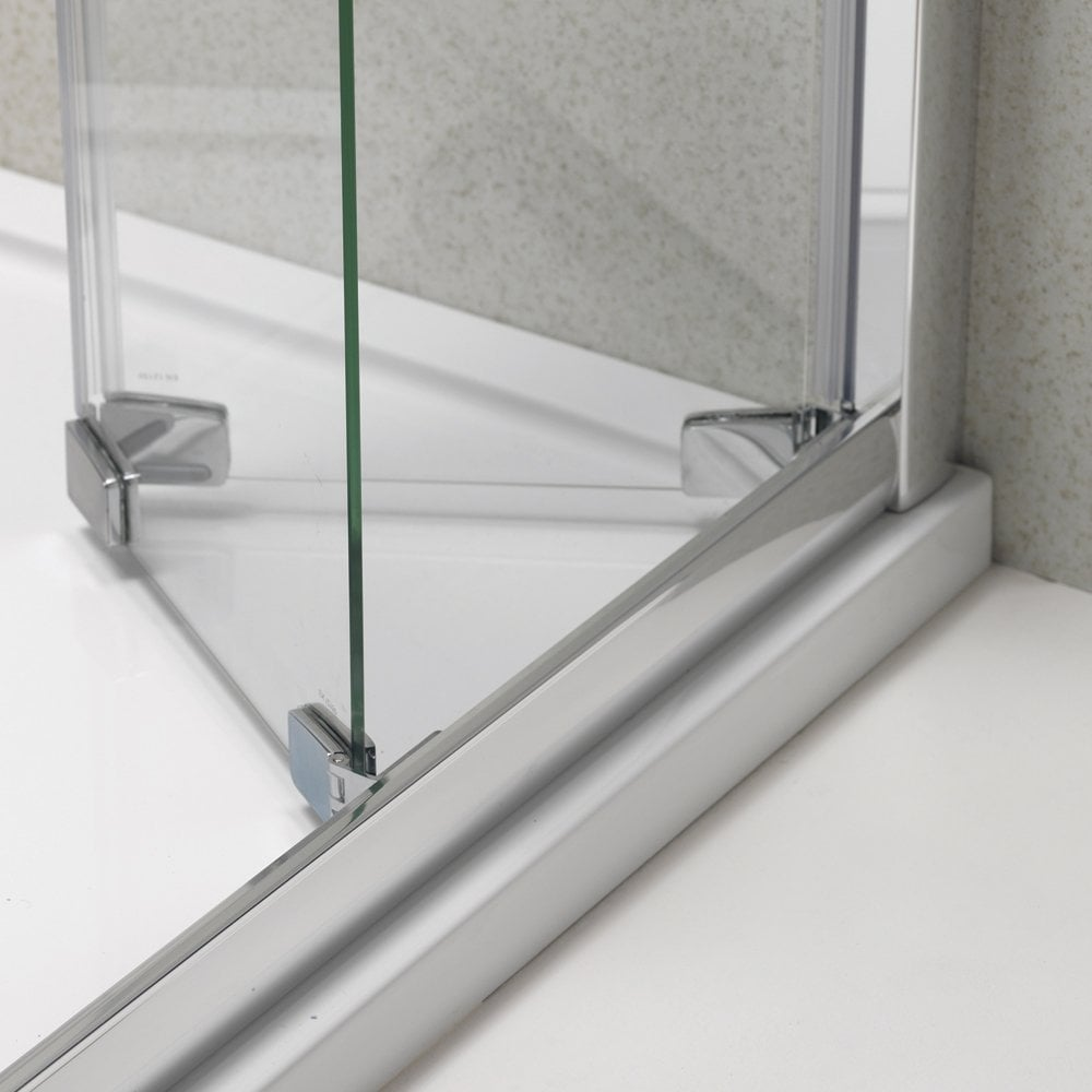 Inspiring bi fold glass shower doors gallery exterior ideas 3d ascent showering 6mm bifold door with easy clean glass ascent planetlyrics Gallery