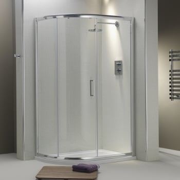 Ascent Showering 8mm 1-Door Offset Quadrants with Easy-Clean Glass