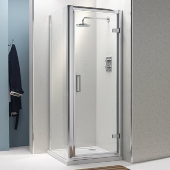 Ascent Showering 8mm Hinged Doors with Easy-Clean Glass