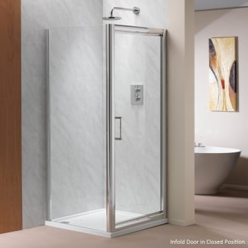 Ascent Showering 8mm Infold Doors with Easy-Clean Glass
