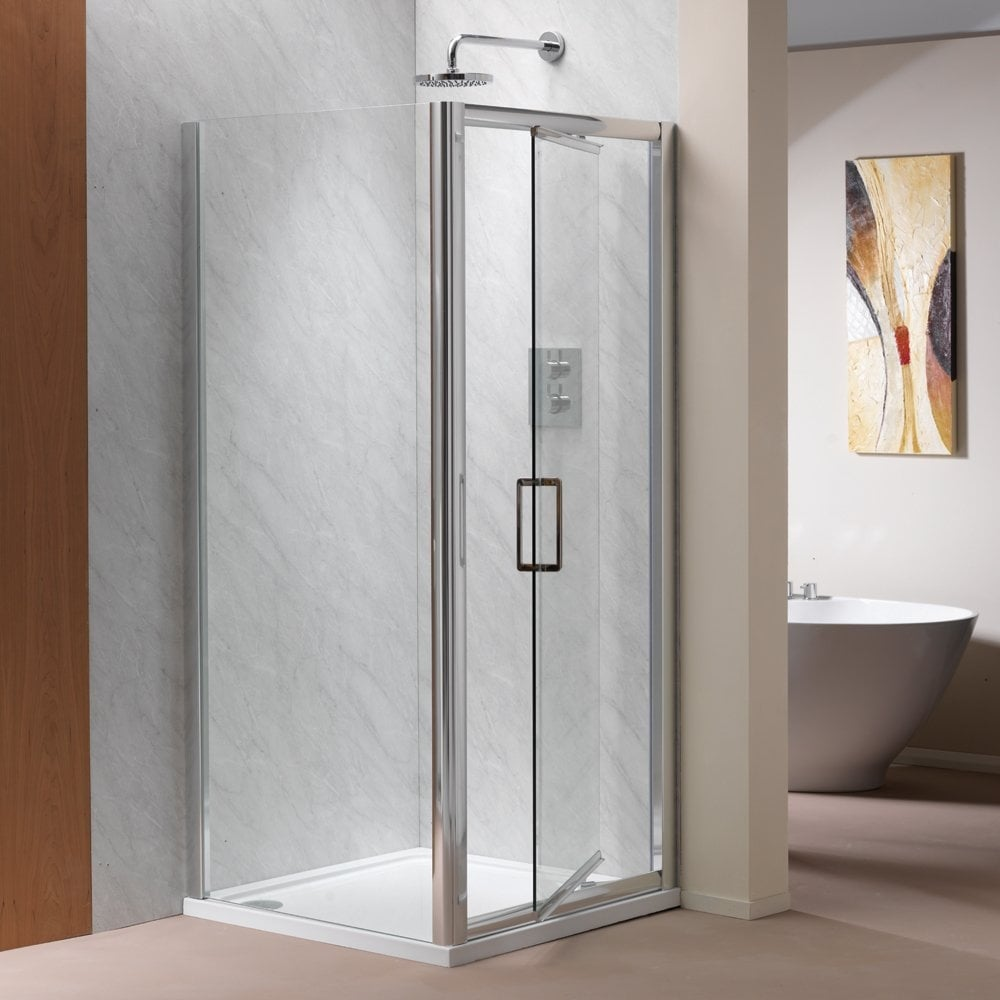 Ascent Showering 8mm Infold Doors With Easy Clean Glass Ascent