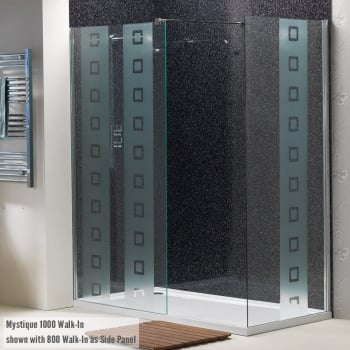 Ascent Showering 8mm Walk-In Mystique Panels with Easy-Clean Glass
