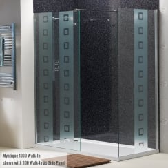 8mm Walk-In Mystique Panels with Easy-Clean Glass