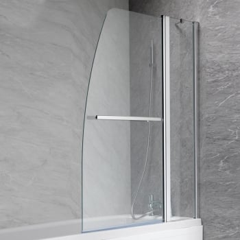 Ascent Showering Double Curved Bath Screen - 1400 x 1100mm