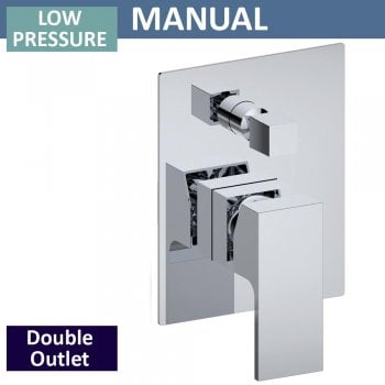Ascent Showering Grosvenor Manual Shower Valve with Diverter - 2 Outlets (controls 2 functions, 1 at a time)