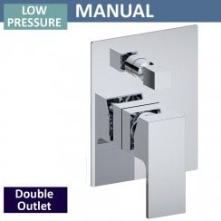 Grosvenor Manual Shower Valve with Diverter - 2 Outlets (controls 2 functions, 1 at a time)