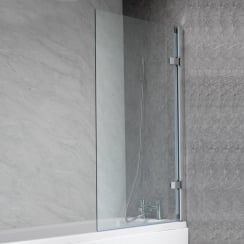 Hinged Bath Screen - 1500 x 850mm