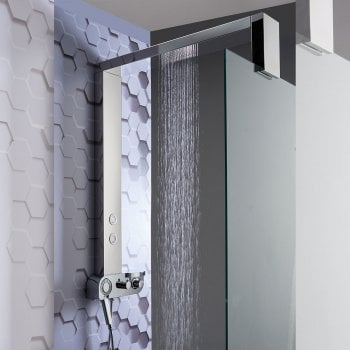 Ascent Showering Monza Shower Column with Integrated Rainfall Head, Body Jets & Shower Kit