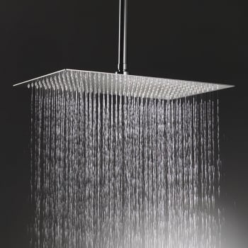 Ascent Showering Nevada Rectangular Shower Head & Ceiling Arm