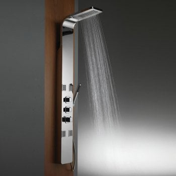 Ascent Showering Nevada Shower Column with Rainfall Head, BodyJets & Shower Kit
