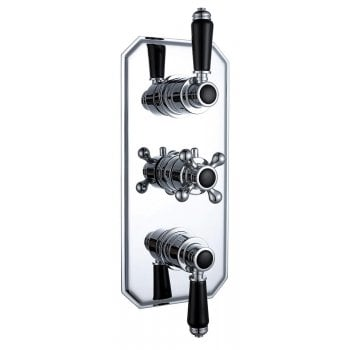 Ascent Showering Nostalgic Traditional Triple Thermostatic Concealed Shower Valve with 1 Outlet (controls 2 functions)