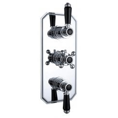 Nostalgic Traditional Triple Thermostatic Concealed Shower Valve with 1 Outlet (controls 2 functions)