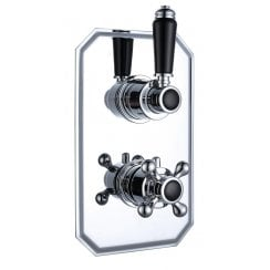 Nostalgic Traditional Twin Thermostatic Concealed Shower Valve with 1 Outlet (controls 1 function)