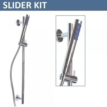 Ascent Showering Ohio Minimalist Handset, Slide Bar & Hose