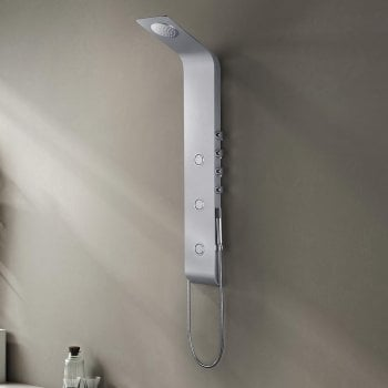 Ascent Showering Rimini Shower Column with Curved Shower Head, Body Jets & Shower Kit