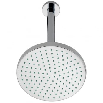 Ascent Showering Round Fixed Shower Head & Ceiling Arm