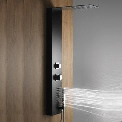 Verona Shower Column with Slimline Rainfall Head, Body Jets & Shower Kit
