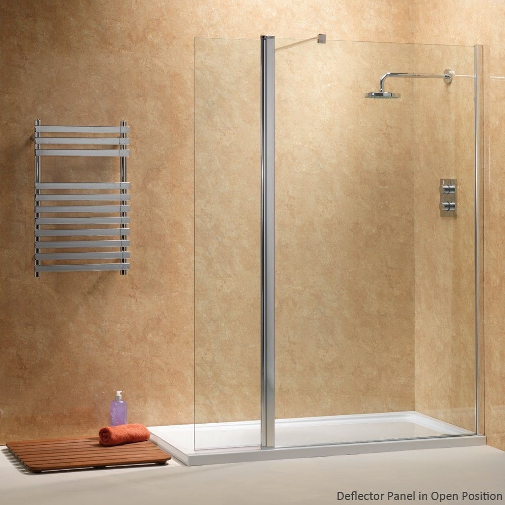 Ascent showering walk in with rotating deflector panels with easy clean glass ascent showering - Walk in glass shower enclosures ...